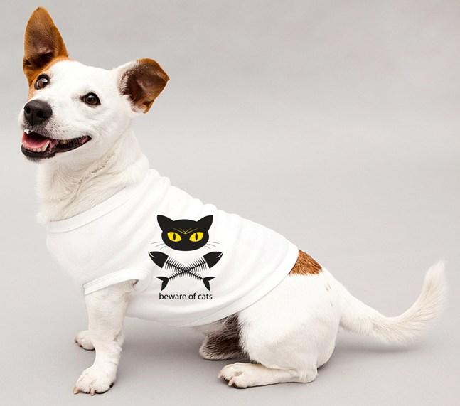 Hundeshirt bad cat_beware of cats