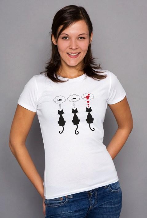 Shirt verliebte Katze denkt an Kater