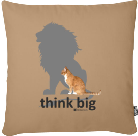 think big_Kissen
