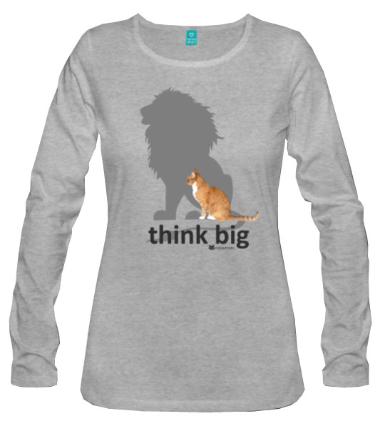 think big_Langarmshirt