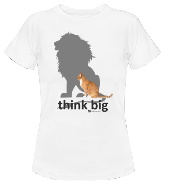 think big_Shirt weiß