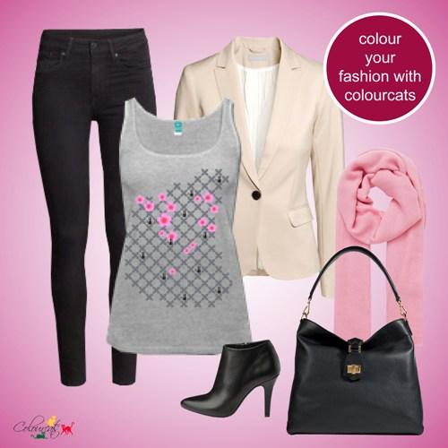 Kirschblüten grau - Outfit