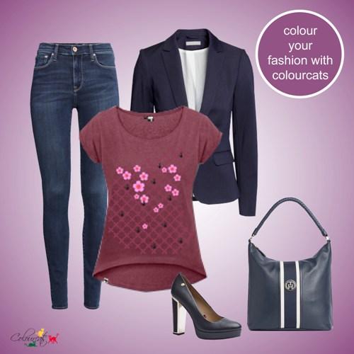 Kirschblüten rot - Outfit