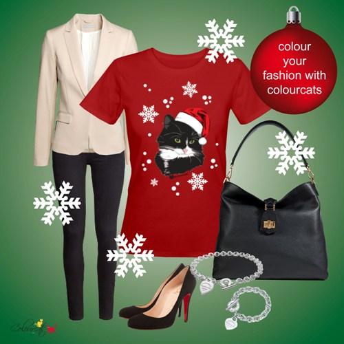 Weihnachtskatze - Outfit
