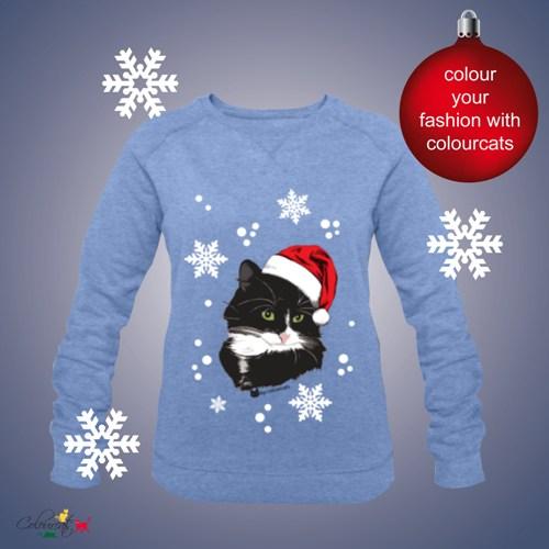 Weihnachtskatze - Sweatshirt