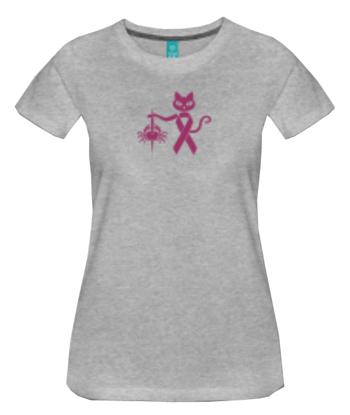 colourcats against cancer - Shirt grau