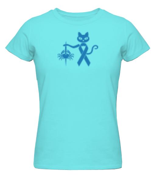 colourcats against cancer - Shirt türkis