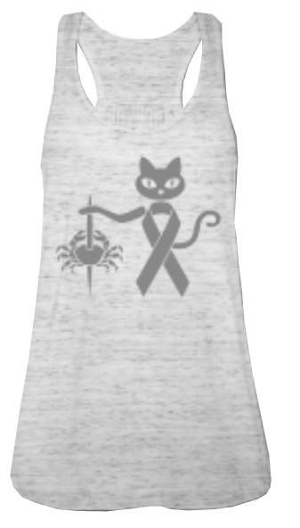 colourcats against cancer - Top grau