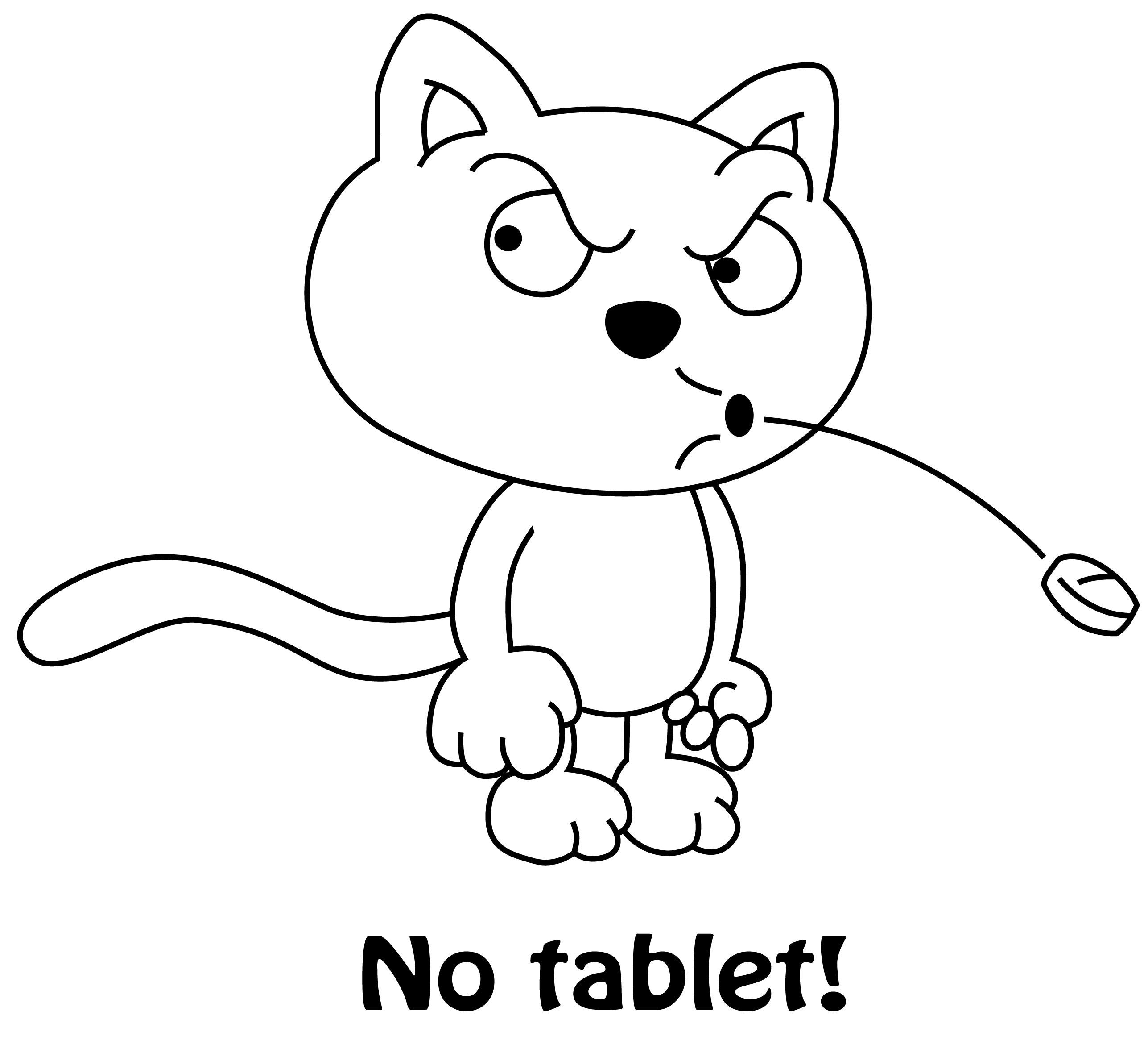 no tablet